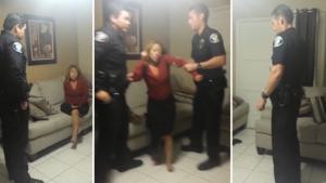 Des policiers sortent une femme qui s'était incrustée chez des gens pour dormir!