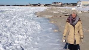 L'océan atlantique gelé dans le Massachusetts? Incroyable!