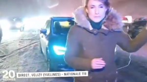 La neige parisienne fait rire les Canadiens