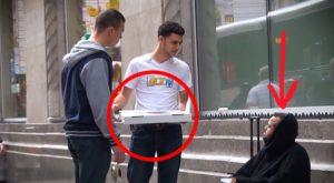 Il offre une pizza à un SDF, la suite va vous faire pleurer !