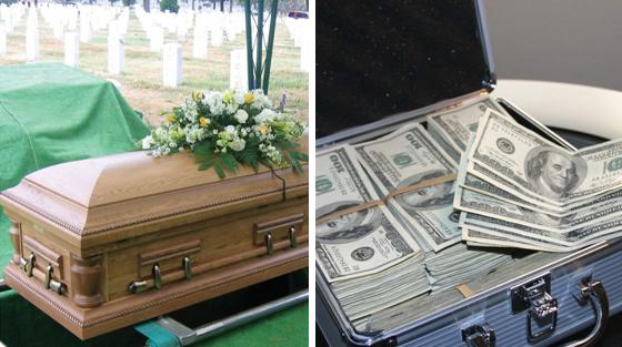 Le mari avait exigé d'être enterré avec tout son argent, mais ce que sa femme a fait est beaucoup mieux