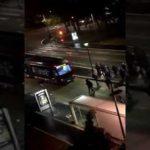La purge d'Halloween Une bande de racailles cassent tout dans la rue à Metz