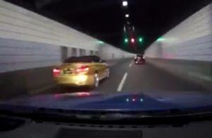 Ils s'amusent a faire une course folle dans un tunnel et finissent en collision !