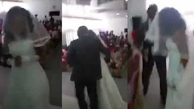SCANDALE : Sa petite-amie débarque à son mariage en robe de mariée!