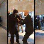 Deux gardes privés des Galeries Lafayette face à des casseurs (Bordeaux)