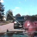Un flic claque la tête d un suspect contre un pare brise si fort qu'il explose