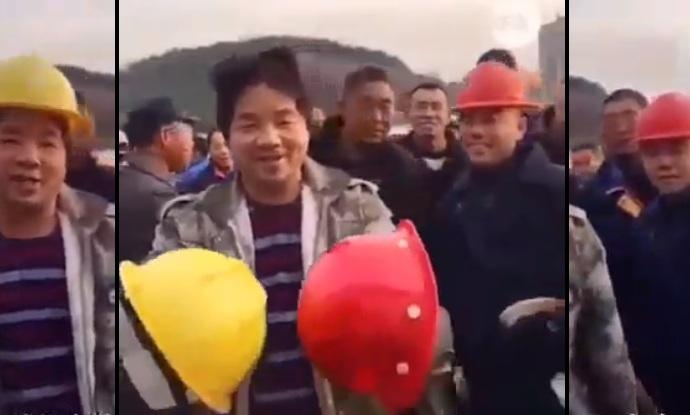 La différence entre le casque des ouvriers et celui pour les patrons