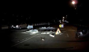 Travaux routiers sans aucune signalisation ont causé un accident pendant la nuit