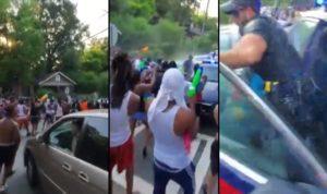 Ils attaquent des policiers avec des pistolets à eau !