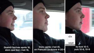 Un chauffeur de taxi américain critique la façon de compter en français