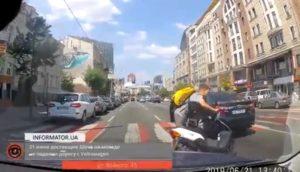Un homme en scooter veut prendre la fuite après avoir provoquer un accident