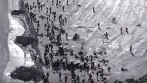 Chute collective à VTT lors de la Mountain of Hell 2019 sur les pentes des 2 Alpes