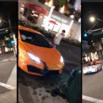 Il fracasse sa Lamborghini en voulant faire le malin au feu rouge