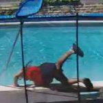 Ce nettoyeur de piscine a été effrayé par un écureuil mort