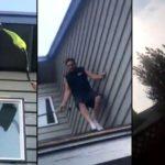 Il se débarrasse d'un nid de guêpes installé près d'une fenêtre