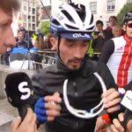 Un journaliste de France Télévisions perturbe l'interview d'une chaîne belge avec un cycliste