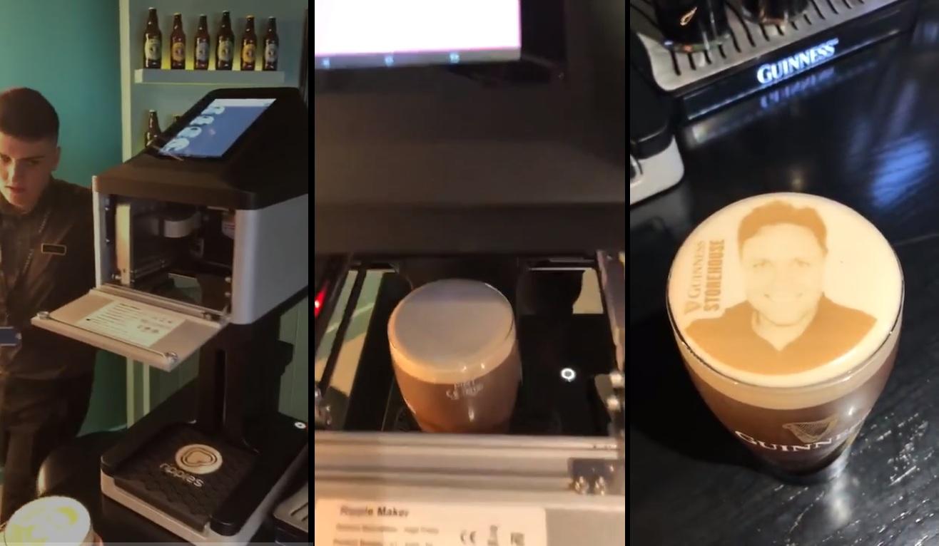 Cette imprimante permet d'imprimer son propre visage sur de la mousse de bière