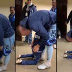 Un enfant supplie un joueur de ne pas quitter son club