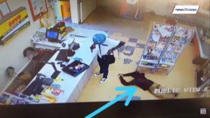 Un voleur à main armée se fait voler à son tour par un client lors d'un braquage d'épicerie