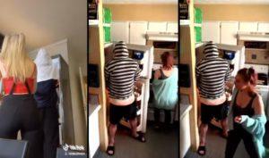 Il fait la blague du réfrigérateur à sa copine mais ça se finit mal pour lui