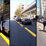 Les automobilistes transforment une piste cyclable en parking
