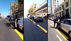Les automobilistes transforment une piste cyclable en parking