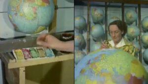 La fabrication des globes terrestres en 1955