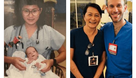 Une infirmière découvre que son nouveau collègue est un bébé soigné 28 ans plus tôt