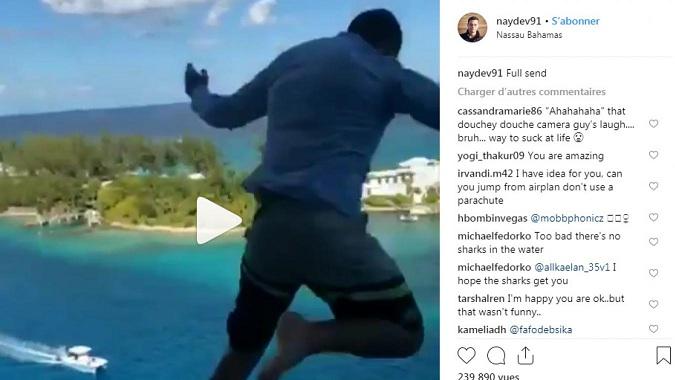 Vidéo : Un homme se jette du 11ème étage d'un navire ( Bahamas )