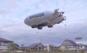 Amazon sort les drones livreurs depuis son ballon dirigeable