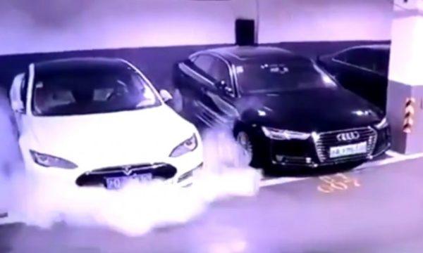 Un modèle S a pris feu dans un parking, Tesla va enquêter