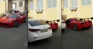 Il perd la porte de sa Ferrari dans un accident de portière