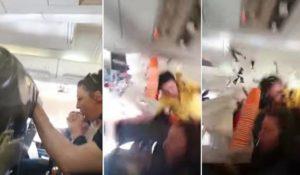 Une hôtesse jetée au plafond lors des graves turbulences dans un avion