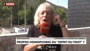 Un supporter de l'Olympique de Marseille s'enflamme en direct à propos de l'homophobie