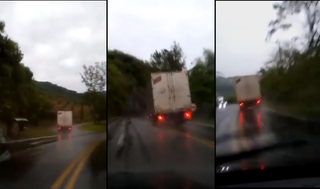 Un camionneur face à une panne de freins dans une descente