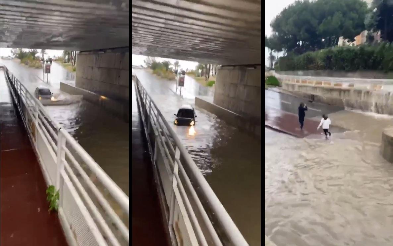 Une femme veut absolument rouler en voiture sous un pont inondé (Var)