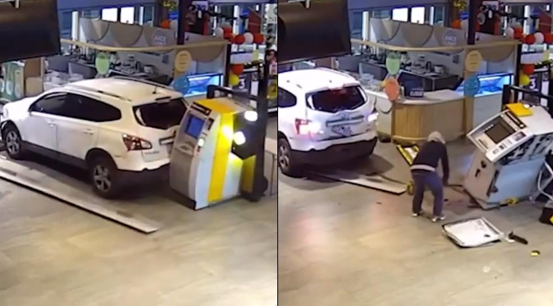 Des voleurs tentent de voler un guichet automatique à l'intérieur d'un centre commercial