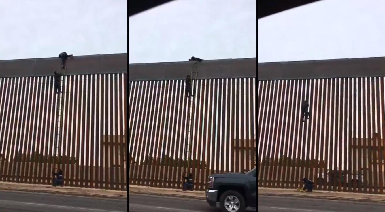 Les Mexicains montrent avec quelle facilité ils peuvent sauter le mur de frontière nouvellement construit!