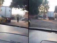 Ce taximan a eu la mauvaise idée de provoquer le chauffeur d'un camion