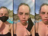 Un bronzage inégal sur le visage à cause d'un masque
