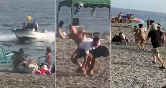 baigneurs trafiquants de drogue sur la plage